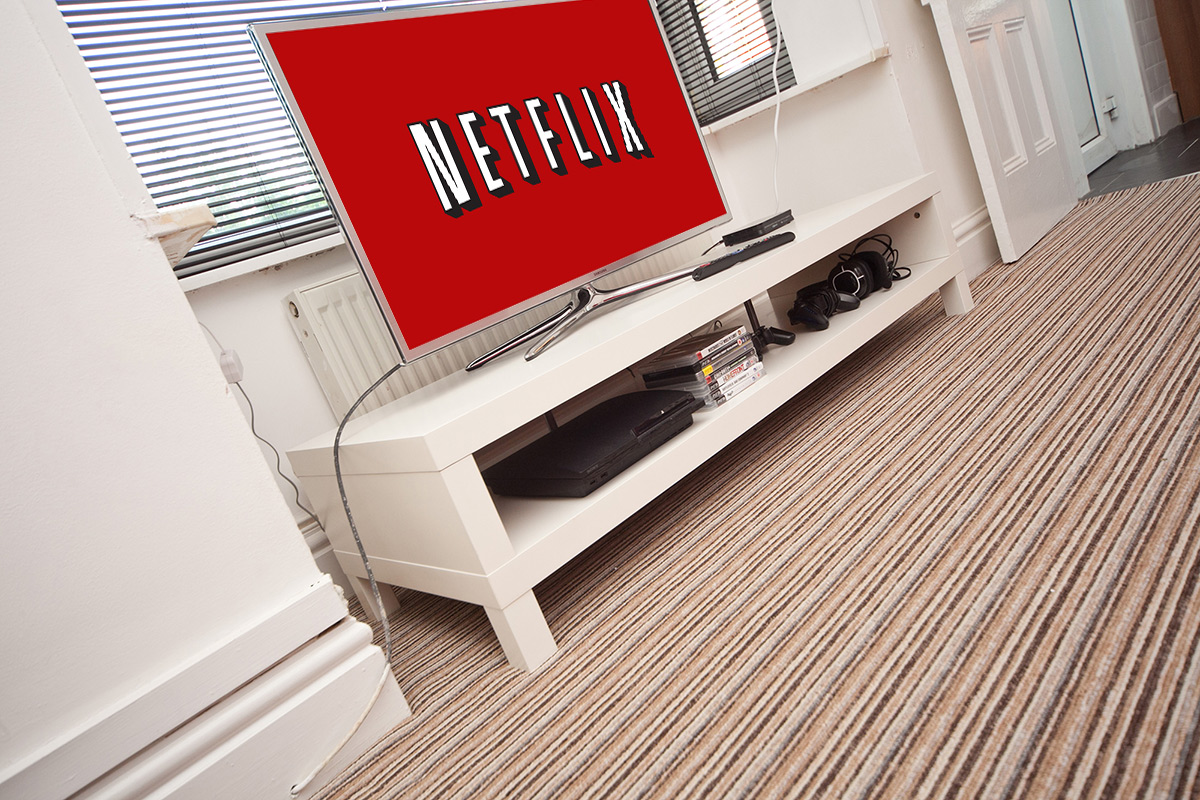 Wide Screen TV with Netflix